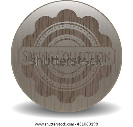 Spring Collection wooden emblem. Retro