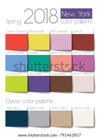 Spring 2018 color palette New York