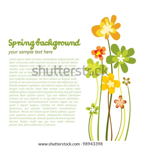Spring colorful flower background