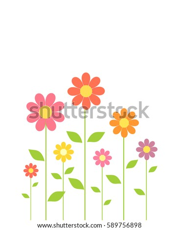 stock-vector-spring-colorful-flowers-growing-vector-illustration