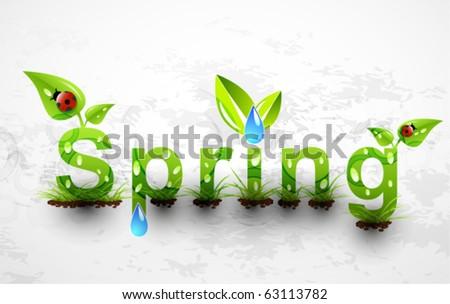 Spring. Concept