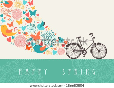 spring concept greeting card