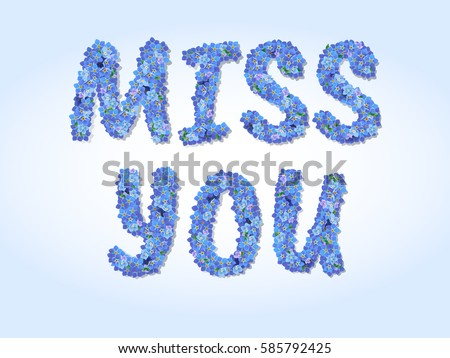 Miss You Vector Card Download Free Vector Art Stock Graphics Images
