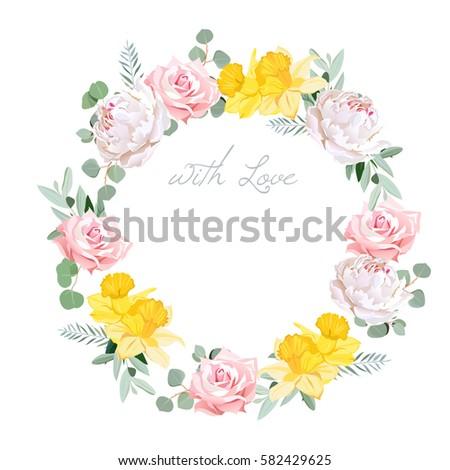 spring delicate white peony