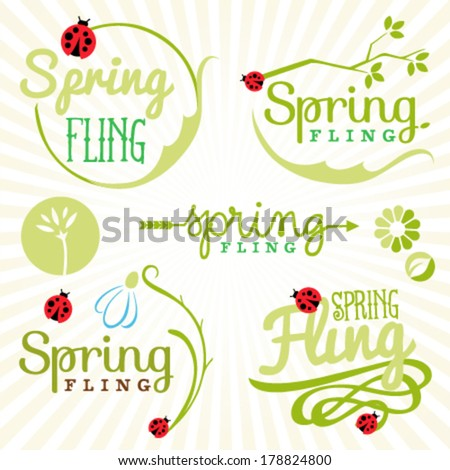 Spring Design Elements. Labels and Badges Stock photo ©