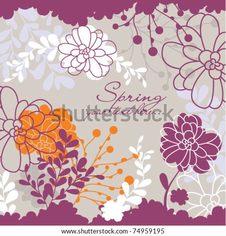 spring floral card with free space for your text