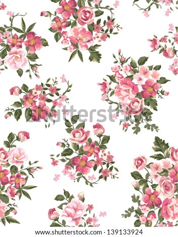 spring floral ,flower seamless pattern background