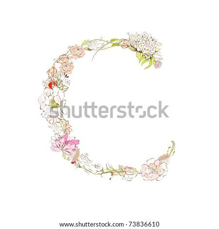 floral alphabet spring floral font letter z find similar images