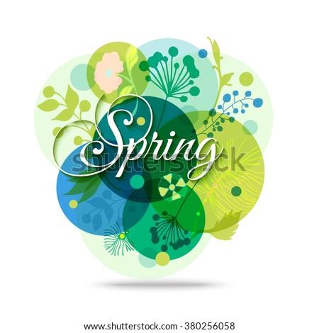 spring floral transparent