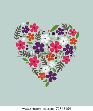 spring flower valentine (vector)