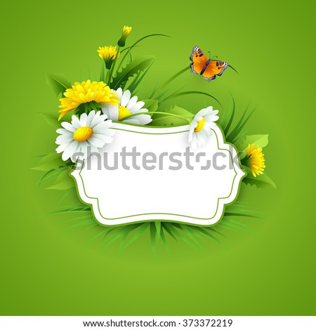 spring flowers background design