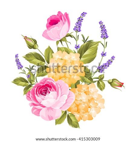 spring flowers bouquet of color