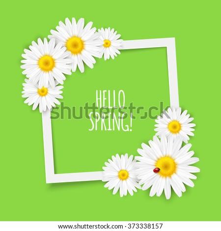 spring flowers frame