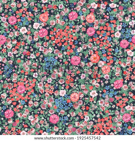 Spring flowers print. Seamless floral pattern. Plant design for fabric, cloth design, covers, manufacturing, wallpapers, print, gift wrap and scrapbooking.