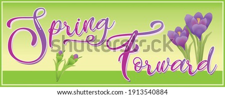 spring forward banner with