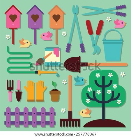 spring garden set