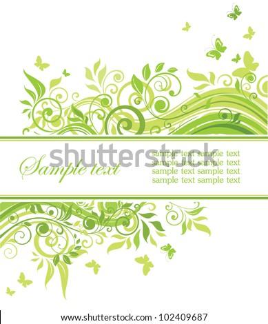 Spring green backdrop