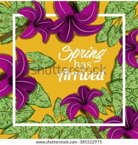 spring has arrived design
