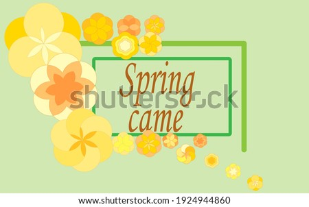 spring has come  postcard