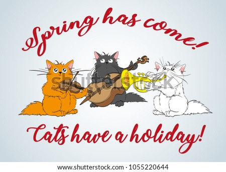 spring has come vector set of