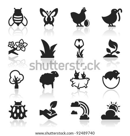 Spring Icons set  Elegant Series