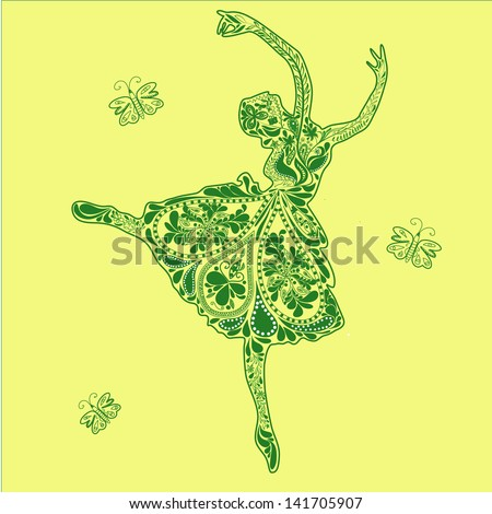 spring illustration with ballet