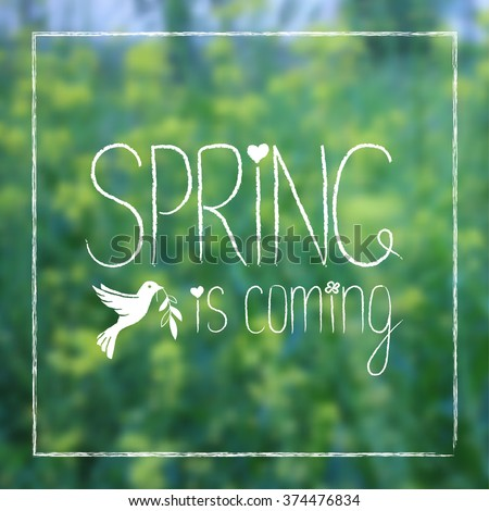 spring is coming card design