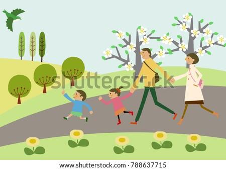 spring landscape image of
