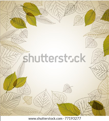 Spring leafs abstract background with place for your text