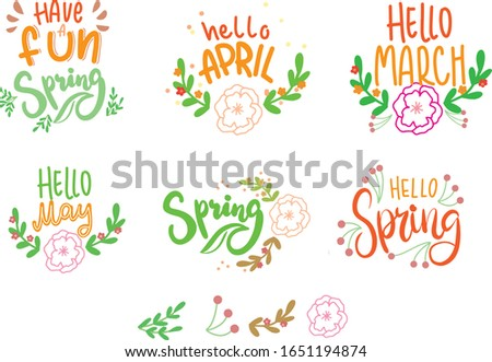 spring lettering  hello spring