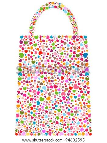 spring love flowers on bag shape