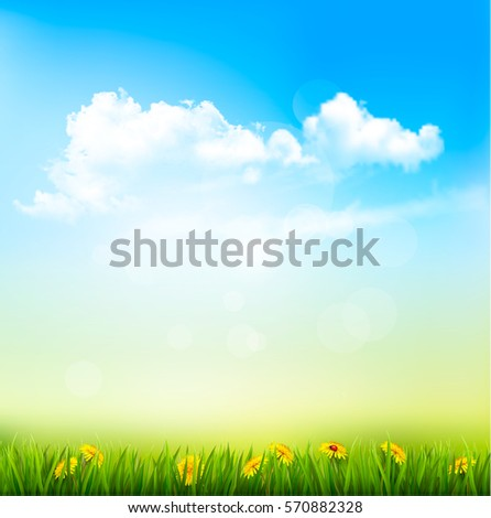 spring nature background with a