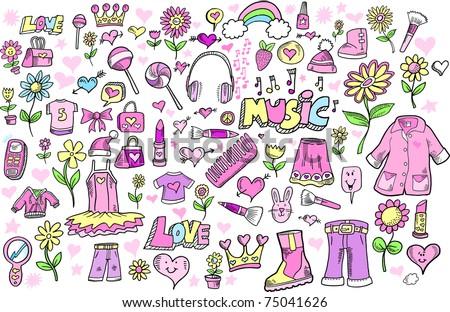 spring princess girlie doodle