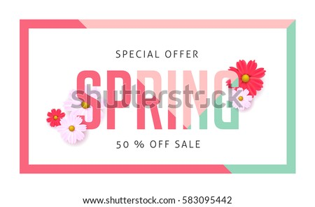 spring sale background banner
