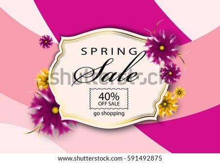 Spring sale background,vector illustration,8 march concept.Color backdrop.For web site,wallpaper,flyer,invitation,poster and brochure #591492875