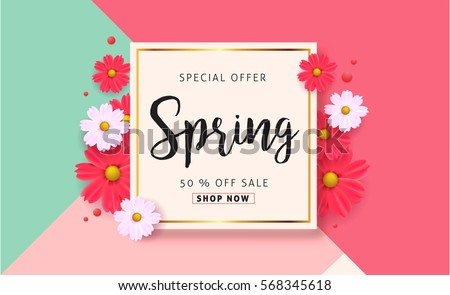 Spring flower background download free vector art stock graphics spring sale background with beautiful colorful flower vector illustration templatennerswallpaper mightylinksfo Images