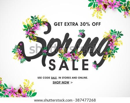 spring sale banner  sale poster