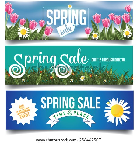 spring sale banners or