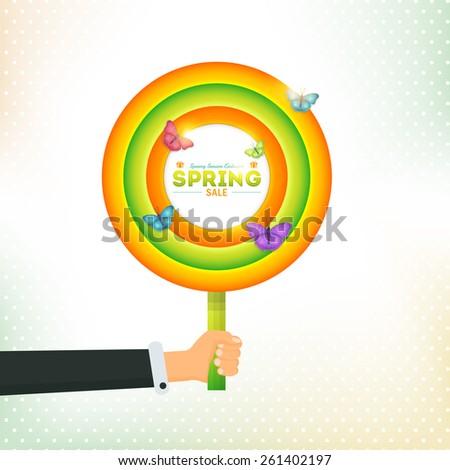 spring sale concept circle