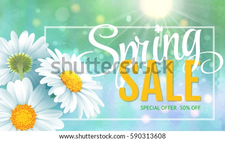 spring sale concept summer