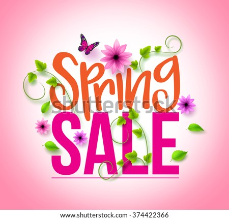 spring sale design with