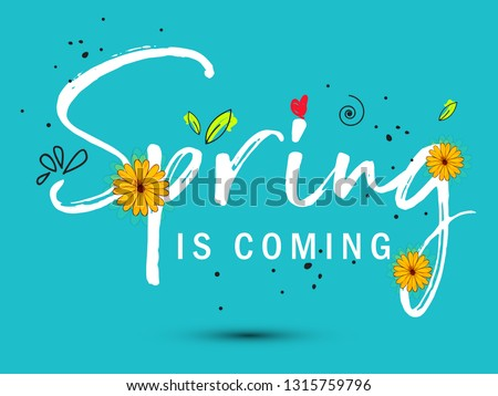 Spring sale offer background with beautiful colorful flower. Vector illustration template.banners.Wallpaper.flyers, invitation, posters, brochure, voucher discount. - Vector