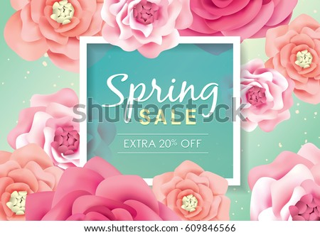 spring sale poster with