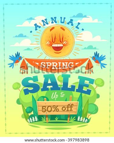 Spring sale. Vector illustration