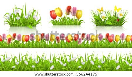 spring seamless pattern  grass