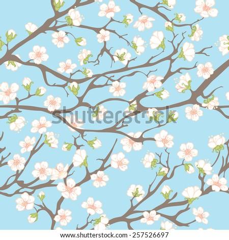 spring seamless pattern spring