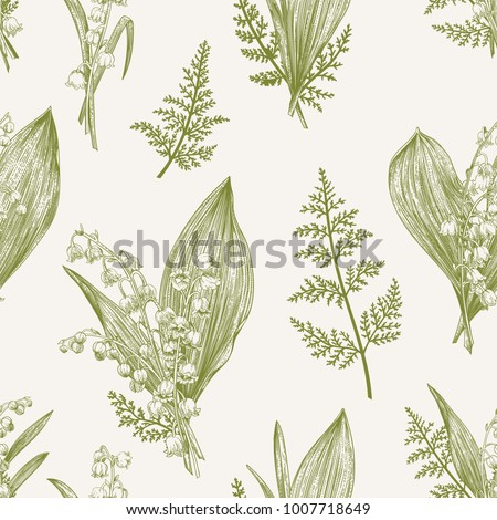 spring seamless pattern with