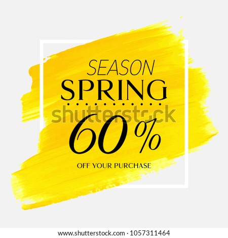 spring season sale 60  off sign