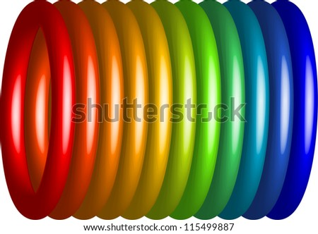 spring spectrum - stock vector
