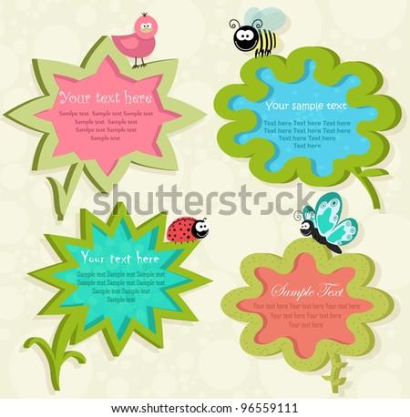 Spring sticker - speech bubbles